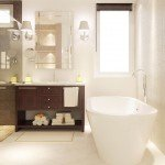 interior design of a master bathroom