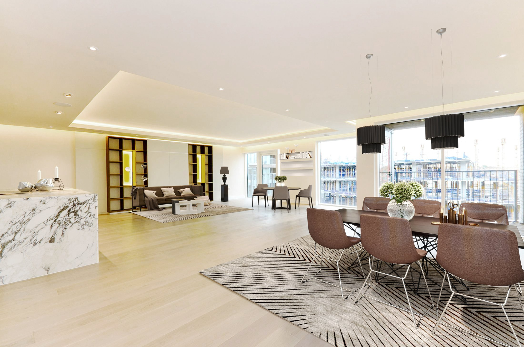 virtual staging example from london after