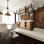 Two Apartments Merged In An Industrial Style-8
