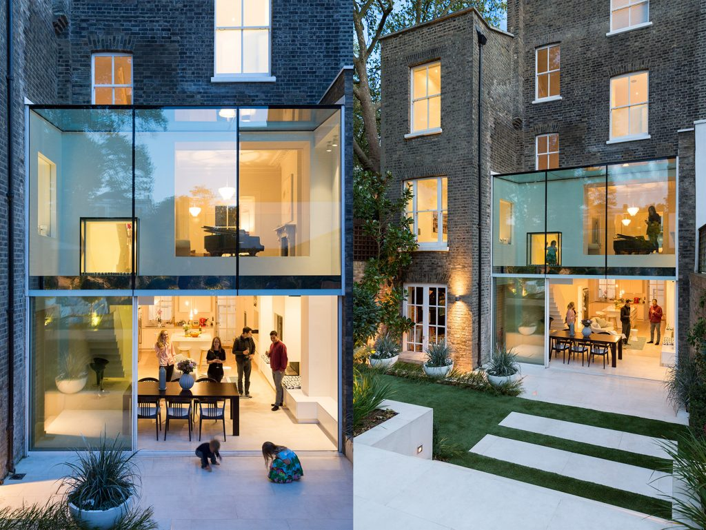 The house extension- contrast and fusion A